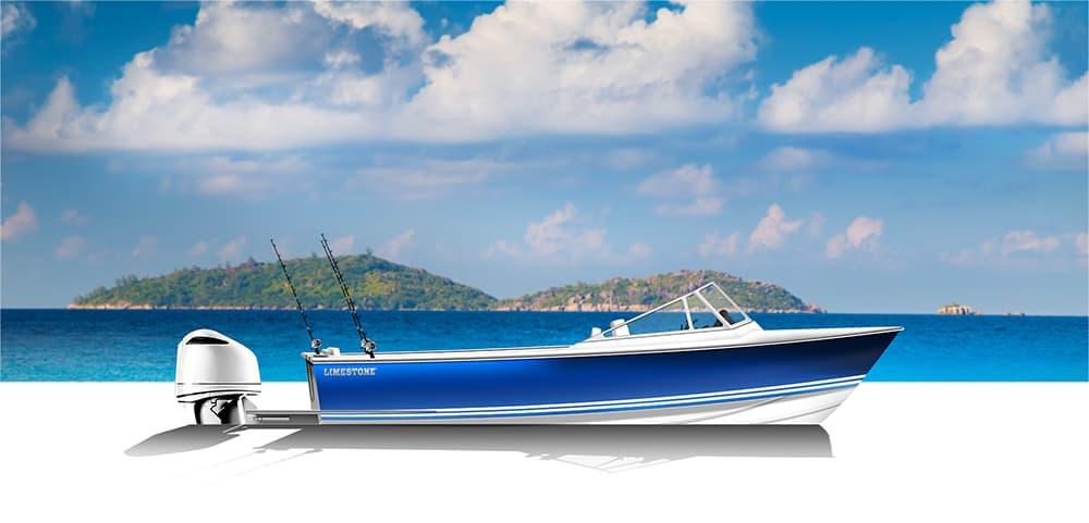 Limestone Boats 250R Runabout Fish